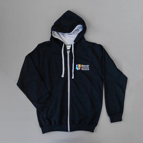 Maynooth University Navy/Grey Crested Hoodie