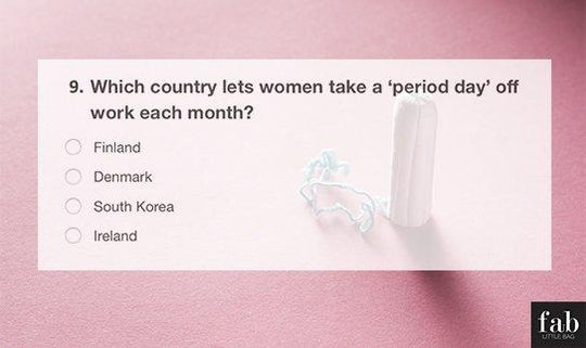 Fab Little Period Quiz