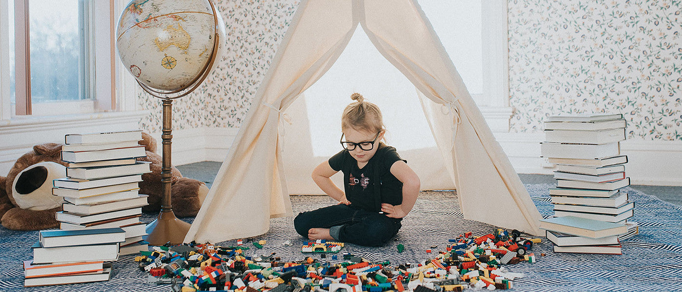 Canvas play tent for kids