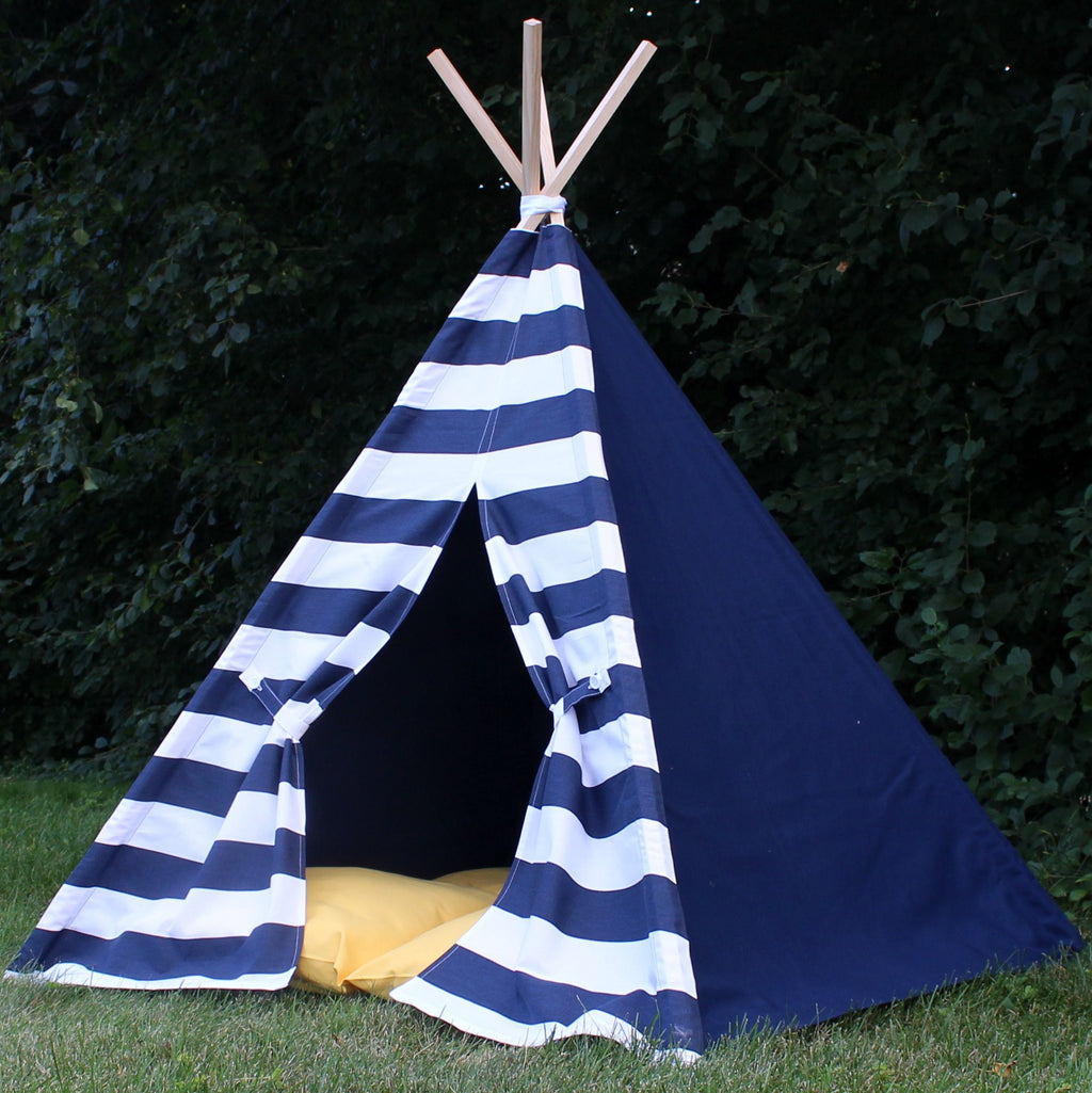 Navy Stripes and Solids Kids Play Teepee