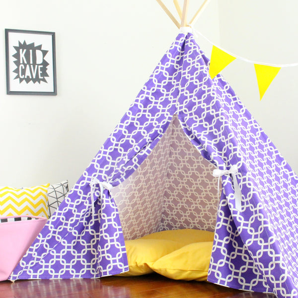 purple kids play tent teepee