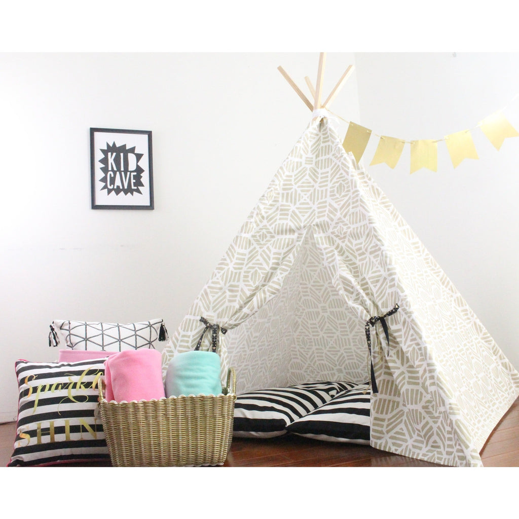 Shimmer Metallic Fabric Teepee