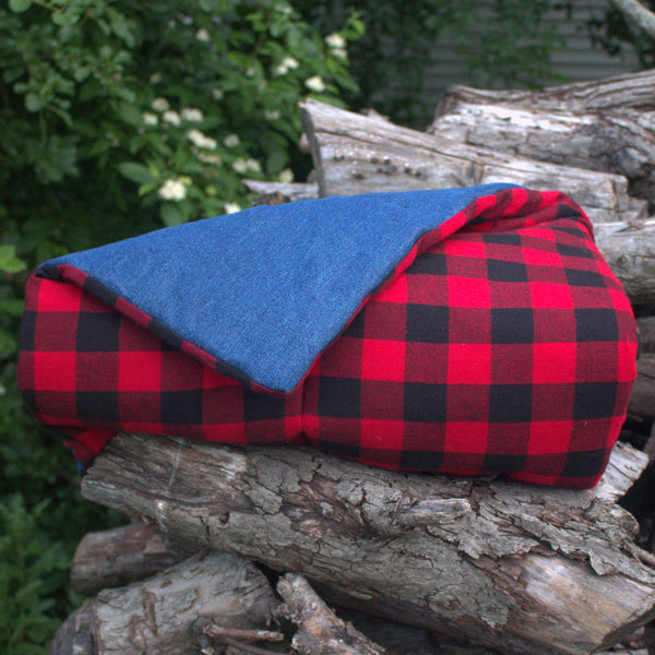 Buffalo Check Teepee Mat Baby Mat with Red and Black Checks