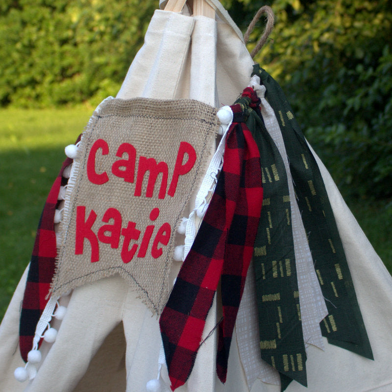 Personalized teepee banner
