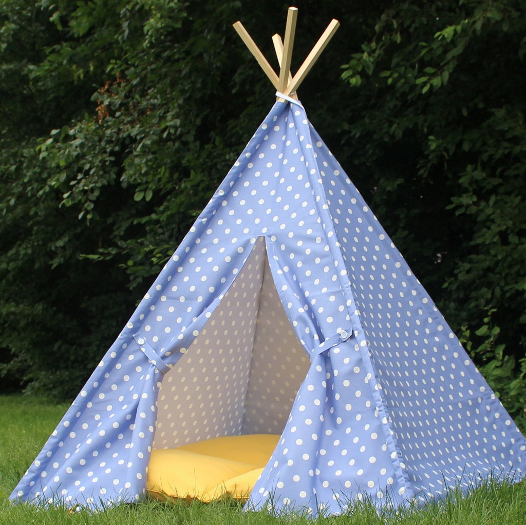Purple Polka Dot Kids Play Teepee Tent  Polka Dot