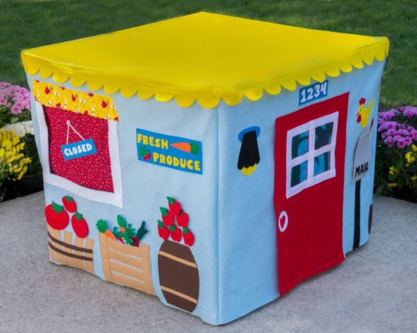 Farm Stand Card Table Fabric Playhouse Gift for Kids