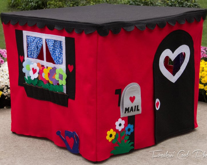 Red card table playhouse for kids and toddlers