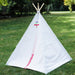 white kids play tent