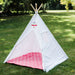 kids teepee tent with mat