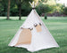 Canvas Kids Tent, Unique Roll Up Door, Childrens Play Tepee
