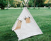 Canvas kids teepee with roll up door