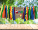 Fishing One Year Old Birthday and Teepee Banner Garland