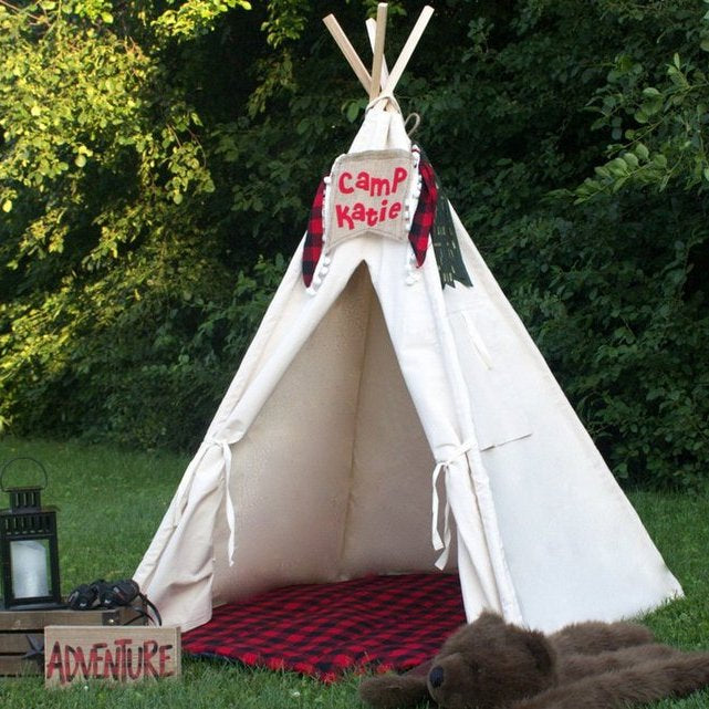 Kids Canvas Teepee, Can Include Window, Four Sizes