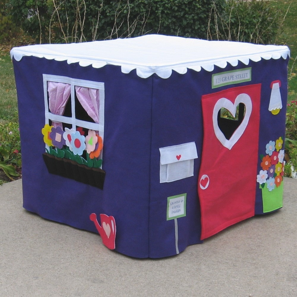 best sneakers b6904 8a3aa Card Table Playhouse Purple Cottage – The Playhouse Kid