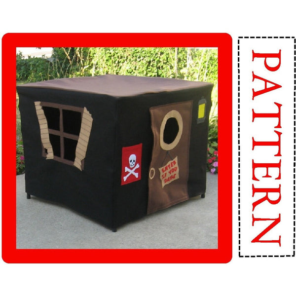 Pattern - Pirate Hideout Card Table Playhouse