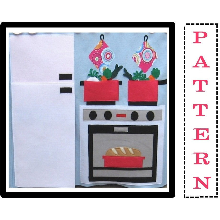 Sewing Pattern - Play Kitchen Playhouse Wall