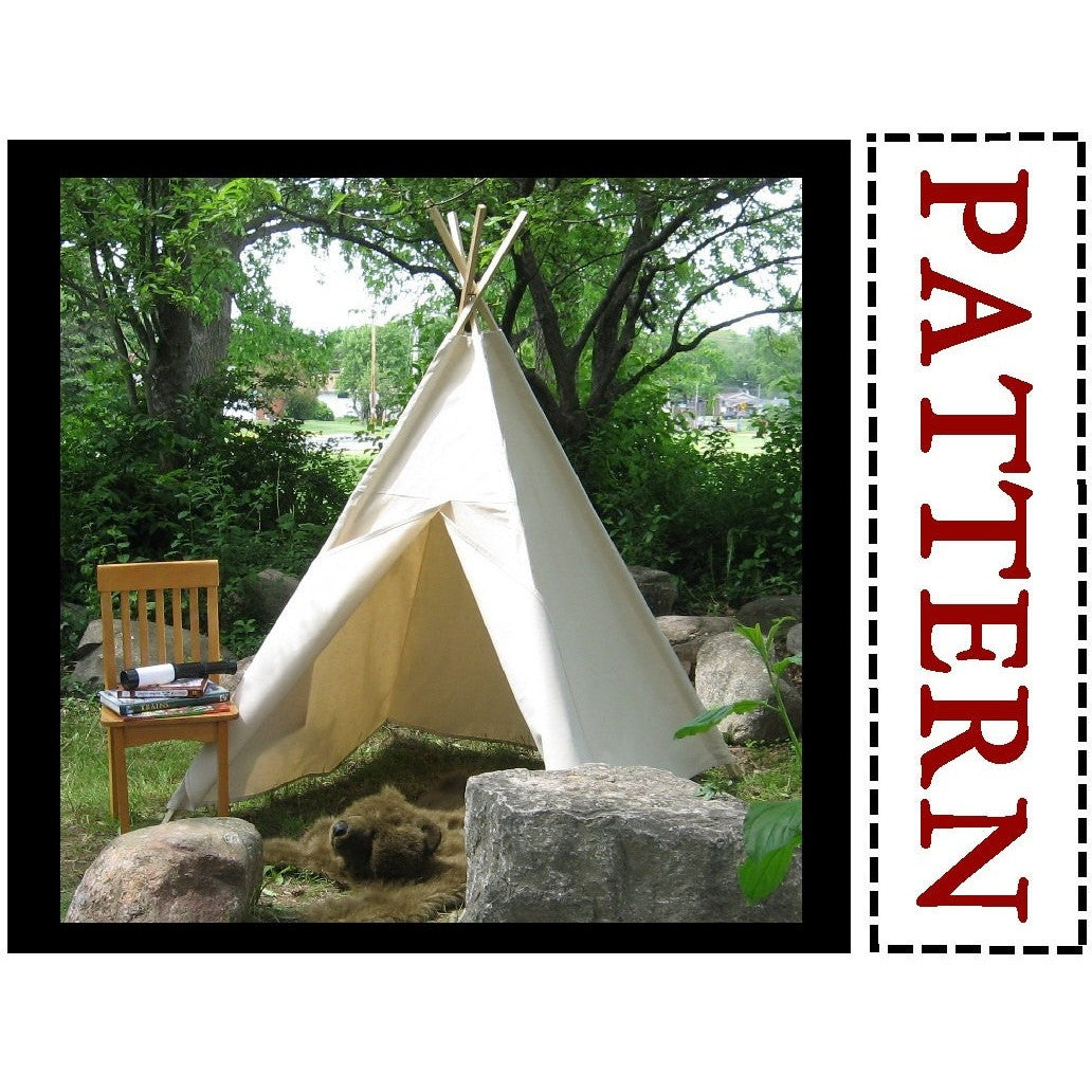 sc 1 st  The Playhouse Kid & Sewing Pattern - Easy to Sew Teepee Tent u2013 The Playhouse Kid