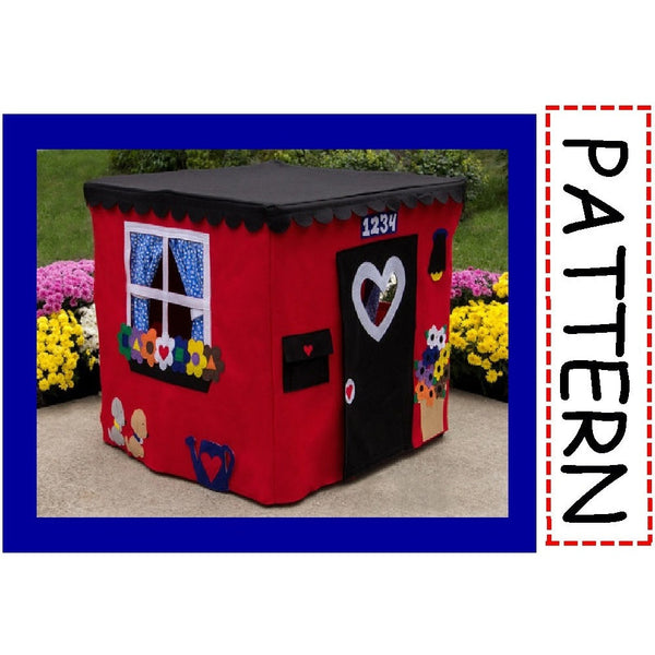 Sewing Pattern - Deluxe Card Table Playhouse