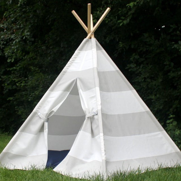 kids gray teepee tent