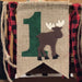 Outdoor woods moose themed high chair and teepee banner
