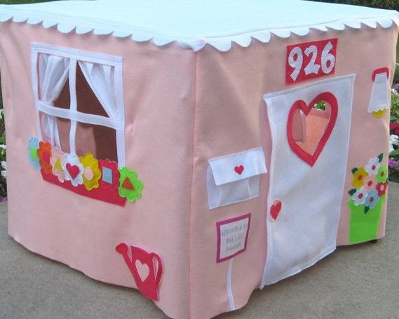 kids fabric card table playhouse