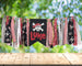 Pirate High Chair Birthday Banner, Teepee Banner Garland