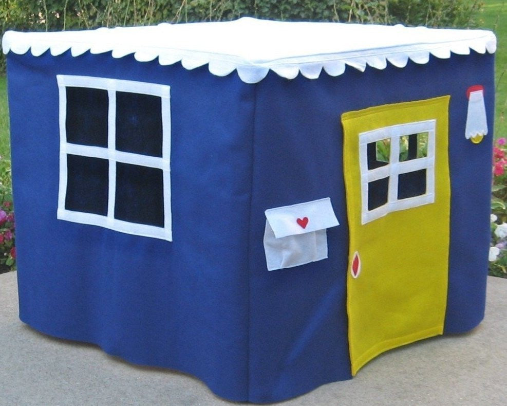 Card Table Playhouse Royal Blue Bungalow