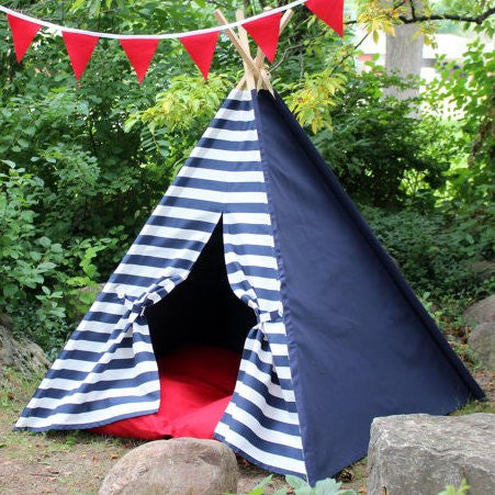Stripes and Solids Kids Play Teepee