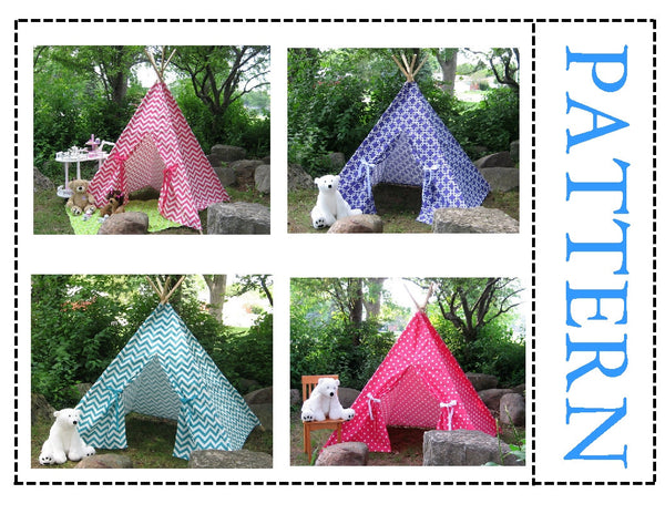 Kids Teepee Play Tent Sewing Pattern, Suitable for all fabric prints