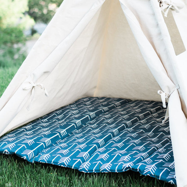 Quilted Teepee Mat with Arrows, Choose From 6 Colors, Two Sizes