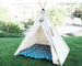 Organic Canvas Kids Tent, Tribal Boho Teepee Childrens Tepee Playhouse, Two Sizes