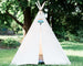 kids natural canvas tee pee