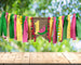 High Chair and Teepee Birthday Banner Garland, Watermelon