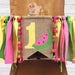 Watermelon high chair and teepee banner