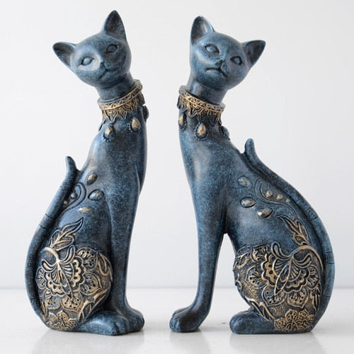 Cat Resin statue European style