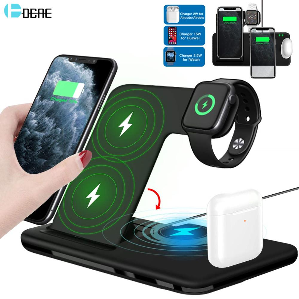 Wireless Charger Stand 4 in 1 Foldable Charging Dock Station