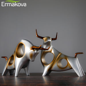 Abstract Bull Sculpture Wine Cabinet