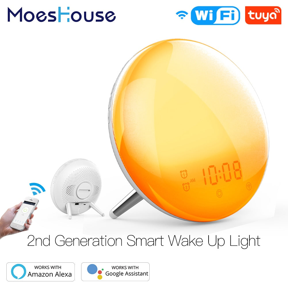 7 Color WiFi Smart Alarm Light 7 Colors Works with Alexa Google Home