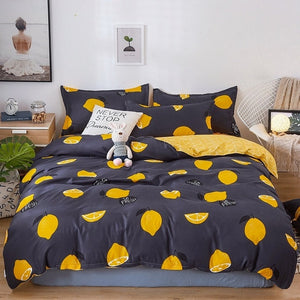Nordic Bedding Set - Leaf Printed Bed Linen