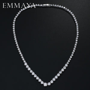 Zircons Stunning Round CZ Crystal Necklaces