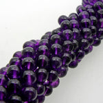 "Amethyst African 6mm Round Beads 15"" Strand"
