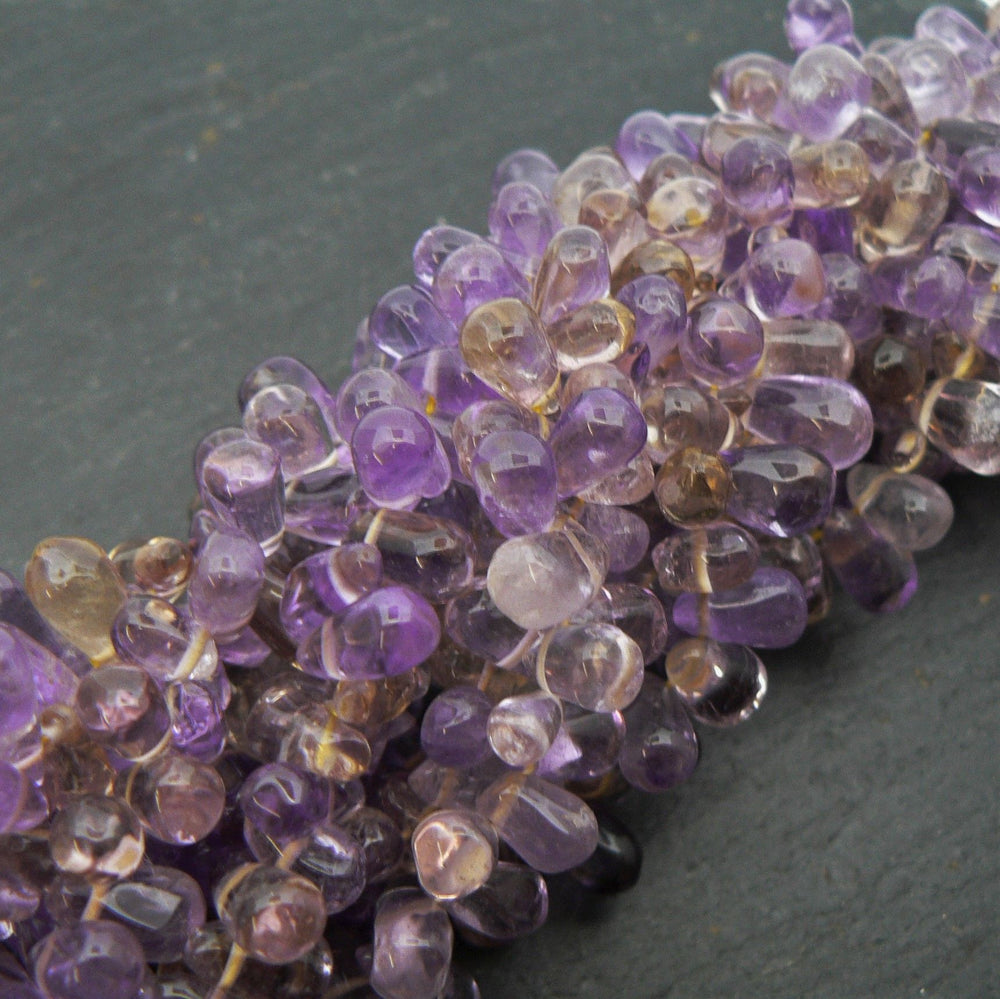 "Ametrine Side Drilled Drop Beads 15"" Strand"