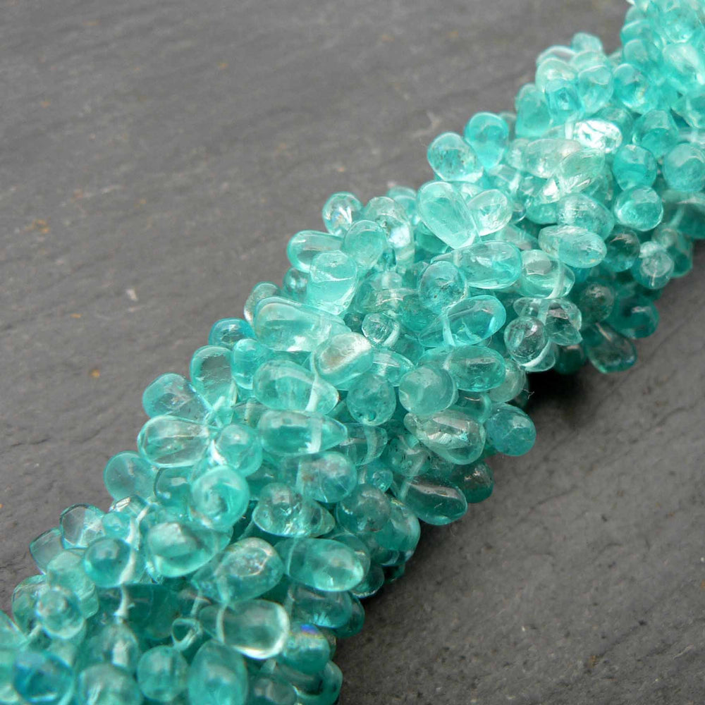 "Apatite Side Drilled Drop Beads 15"" Strand"