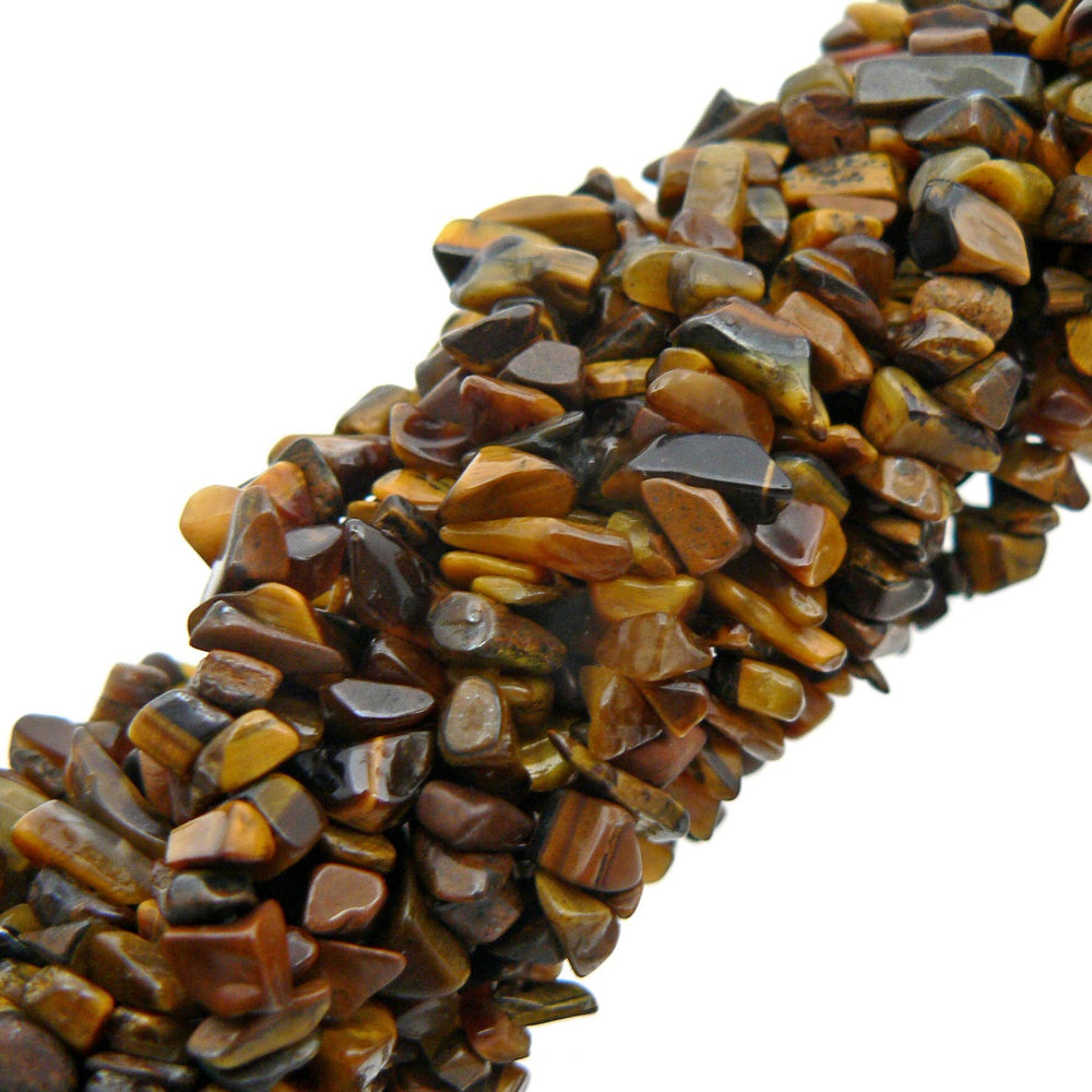"Tiger Eye Chip Beads 35"" Strand"