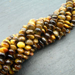 "Tiger Eye Button Beads 15"" Strand"