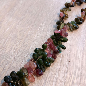 Tourmaline Plain Pear Drop Briolette Beads (Set of 5)