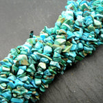 "Natural Turquoise Chip Beads 35"" Strand"