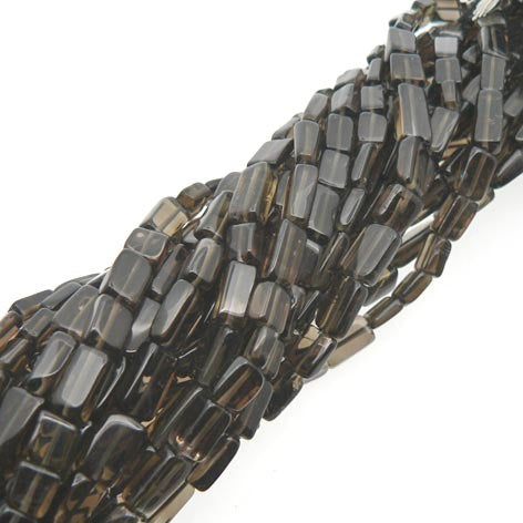 "Smoky Quartz Rectangle Beads 15"" Strand"