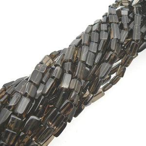 "Load image into Gallery viewer, Smoky Quartz Rectangle Beads 15"" Strand"