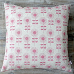 Biggie Best Retro Flower Linen & Raspberry Cushion